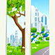 Two Vertical Banners with City - GraphicRiver Item for Sale