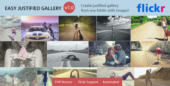 CodeCanyon Easy Justified Gallery Image Gallery on the fly 7223085