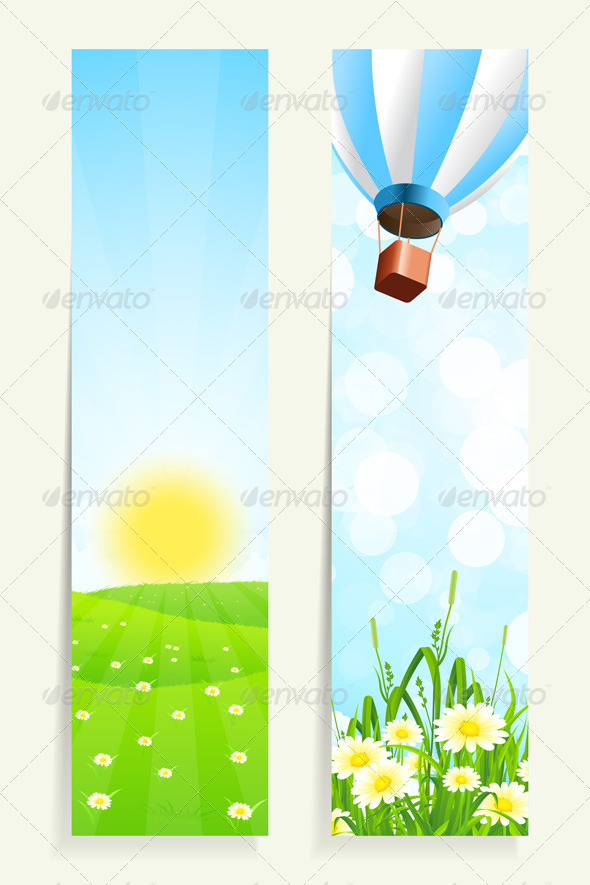 GraphicRiver Two Vertical Banners with Nature 7223093
