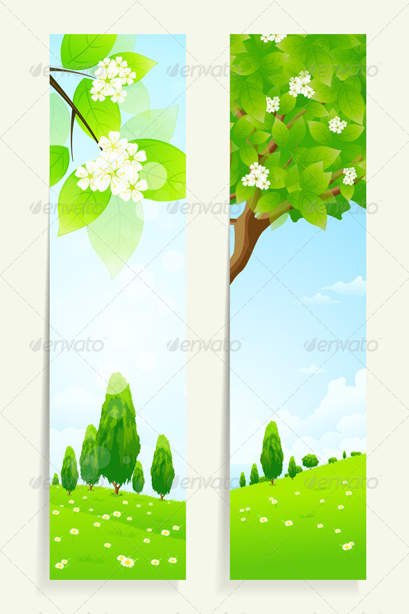GraphicRiver Two Vertical Banners with Nature 7223095