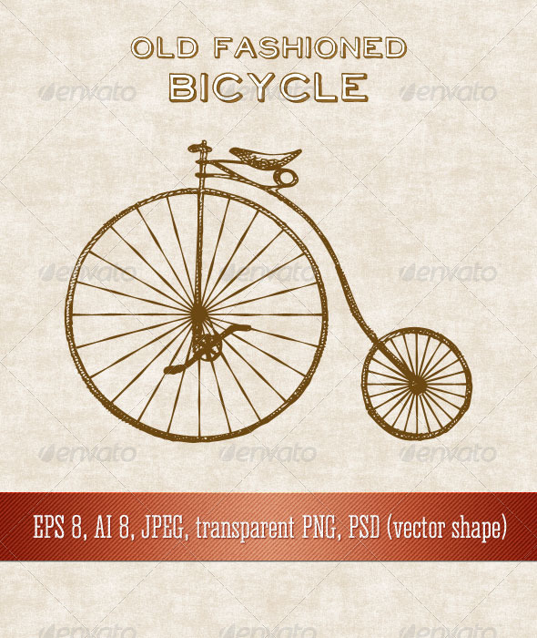 GraphicRiver Old Fashioned Bicycle 7223188