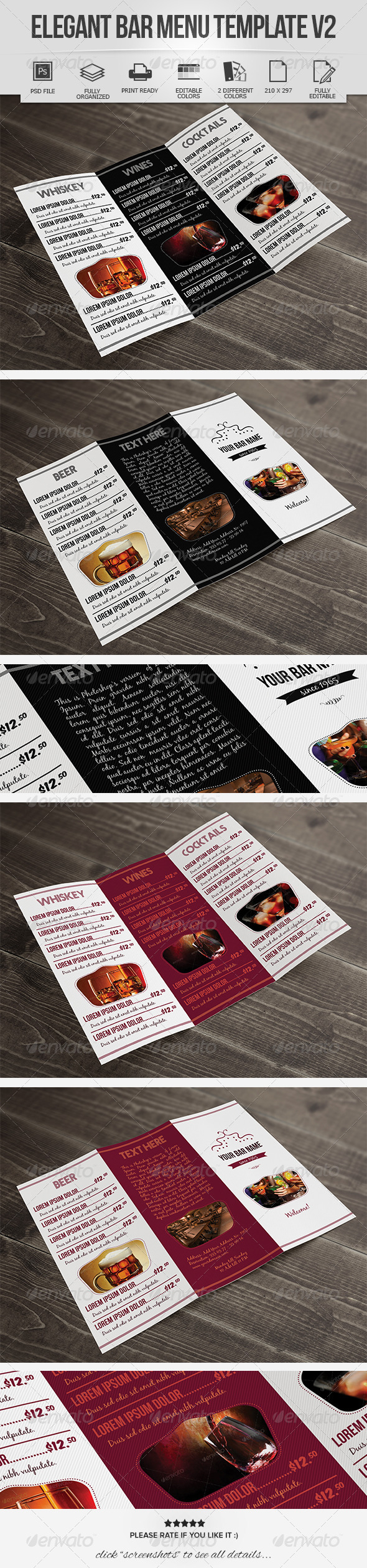 GraphicRiver Elegant Bar Menu Design V2 7223250