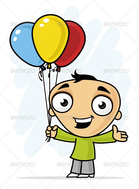 GraphicRiver Boy with Balloons 7223261