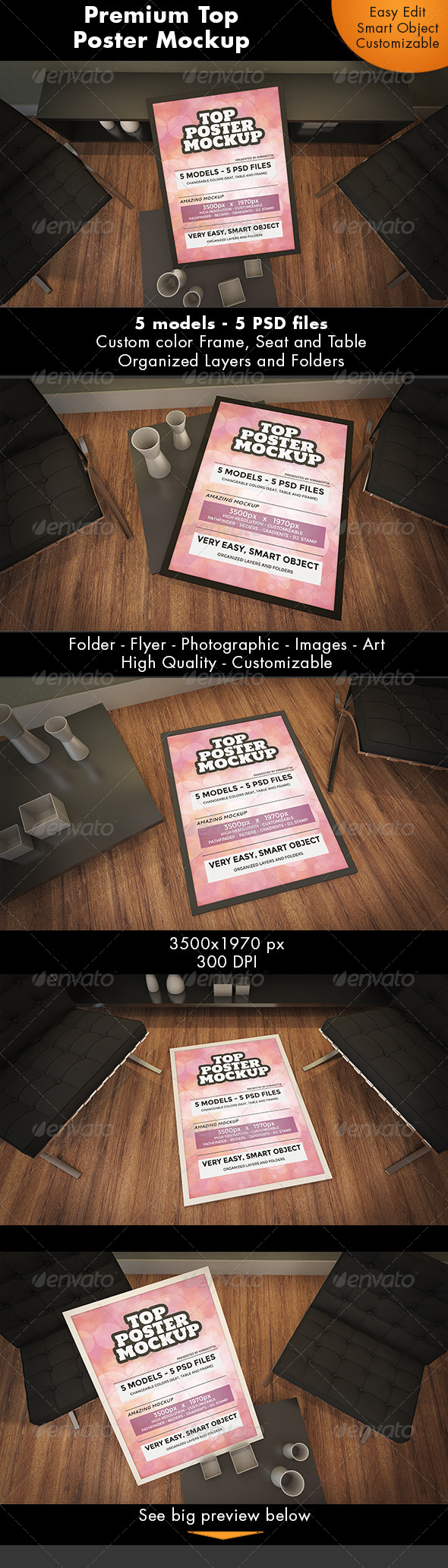 GraphicRiver Top Poster Mockup 7223304