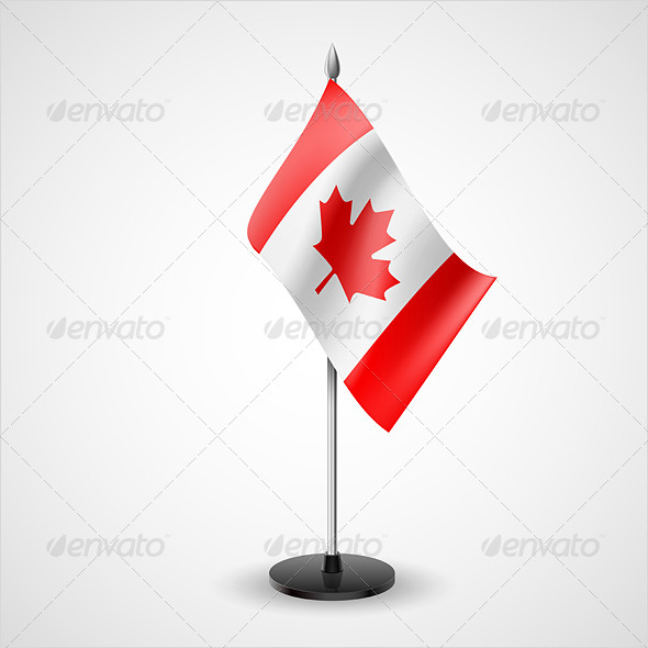 GraphicRiver Table Flag of Canada 7223308