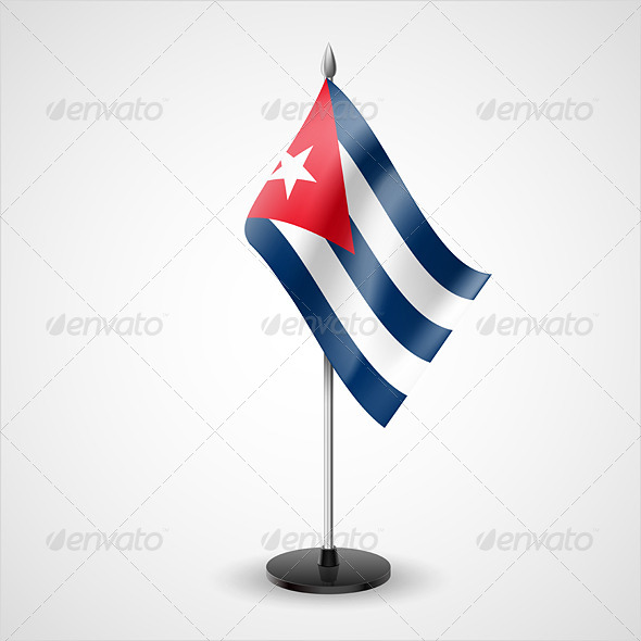 GraphicRiver Table Flag of Cuba 7223332