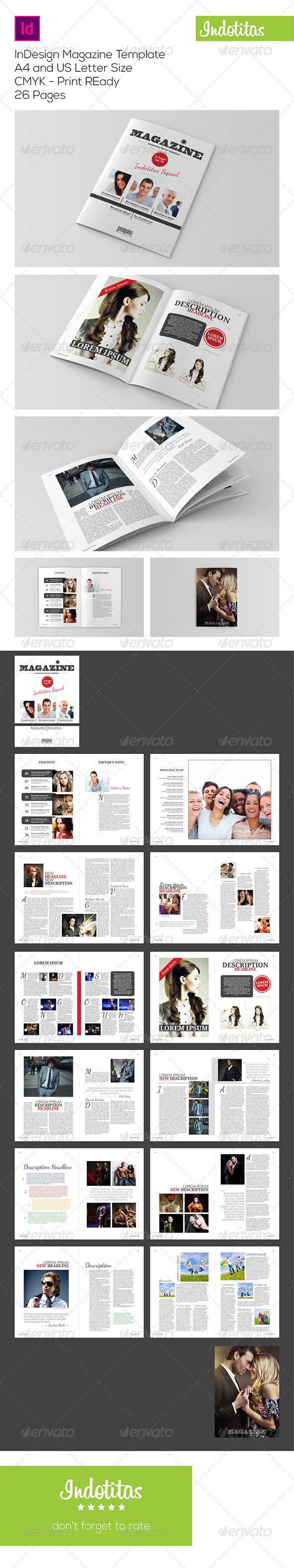 GraphicRiver InDesign Magazine Template 7223351