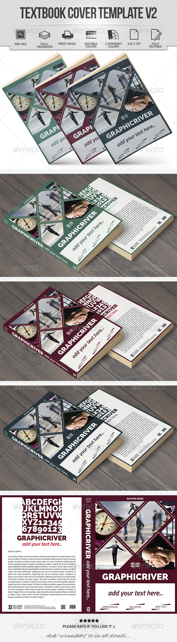 GraphicRiver Textbook Cover Template V2 7223353