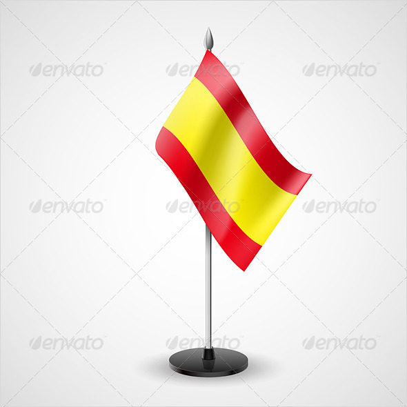 GraphicRiver Table Flag of Spain 7223490