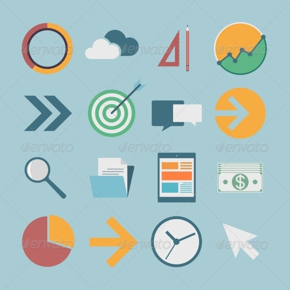 GraphicRiver Flat Icons 7223779