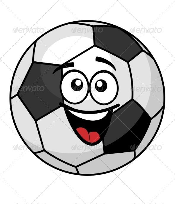 GraphicRiver Soccer Ball with a Happy Smile 7223789
