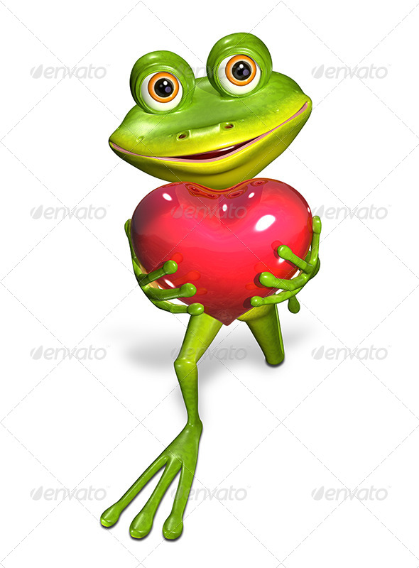 GraphicRiver Frog with Heart 7223965