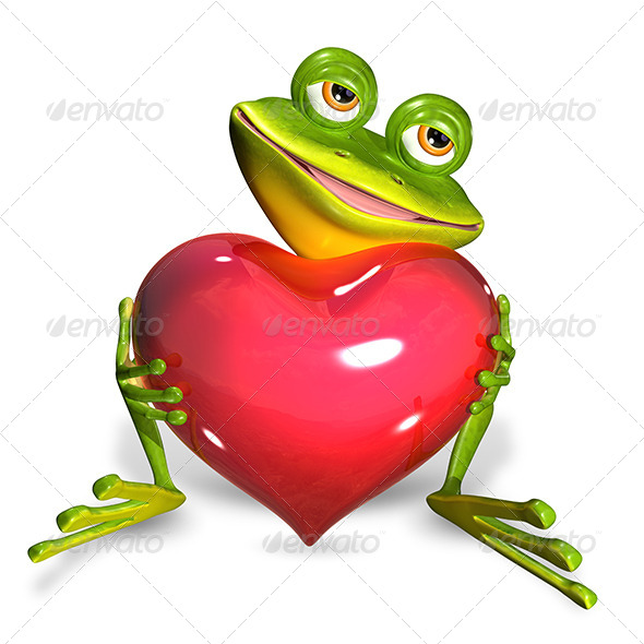 GraphicRiver Frog with Heart 7224005