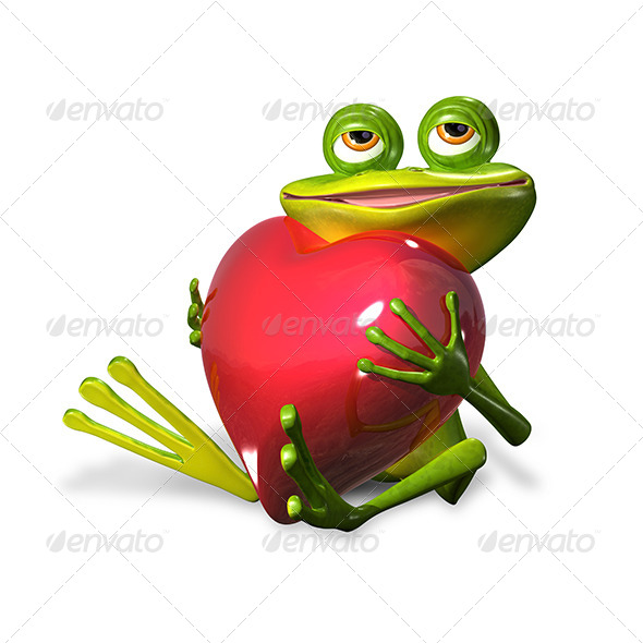 GraphicRiver Frog with Heart 7224037