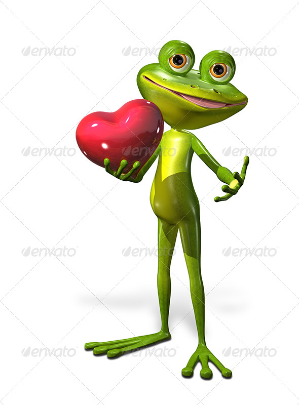 GraphicRiver Frog with Heart 7224047