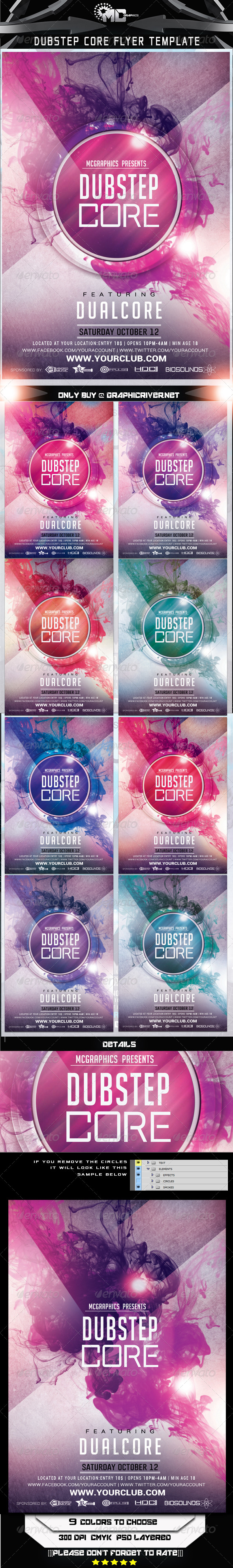 GraphicRiver Dubstep Core Flyer Template 7190505