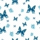 Vintage Seamless Background with Butterflies - GraphicRiver Item for Sale
