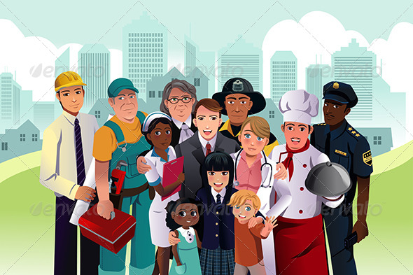GraphicRiver People with Different Occupations 7224252