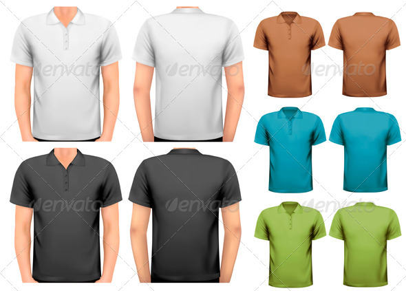 GraphicRiver Black and White and Color Men T-Shirts 7224264