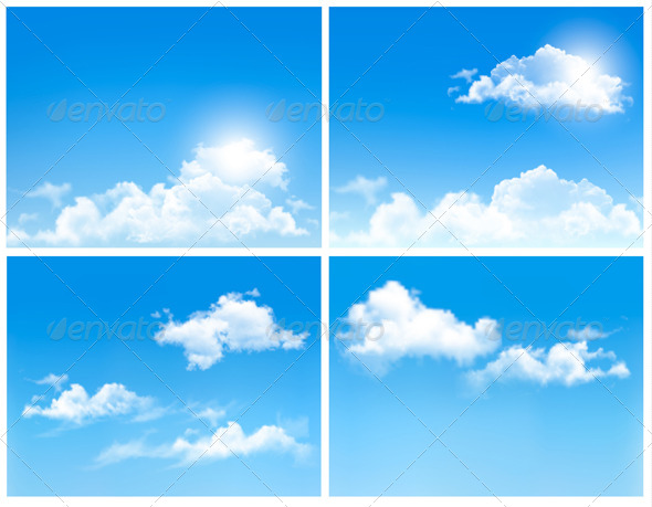 GraphicRiver Collection of Backgrounds with Blue Sky and Clouds 7224273