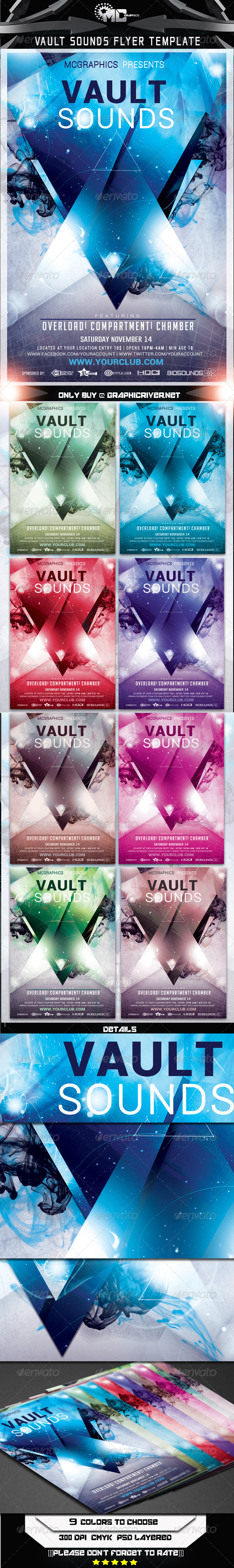GraphicRiver Vault Sounds Flyer Template 7192957