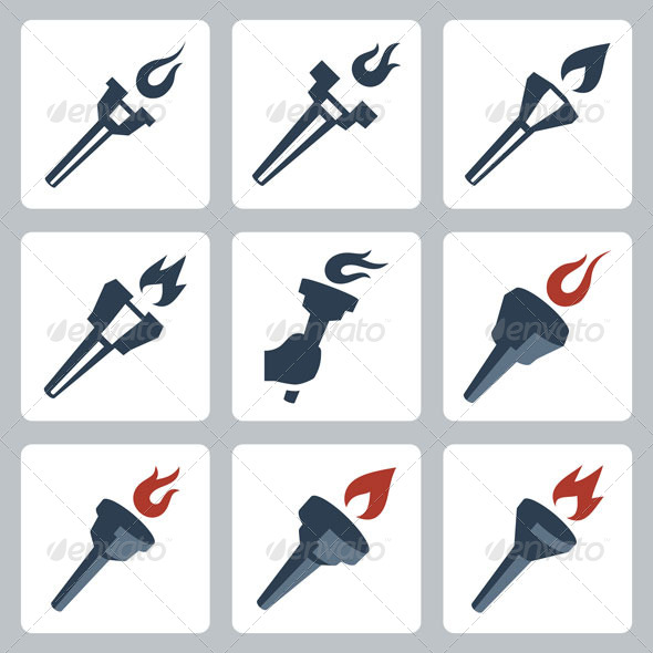 GraphicRiver Torches icons 7174101