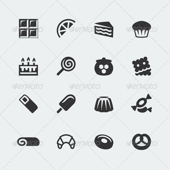 GraphicRiver Sweets icons 7174095