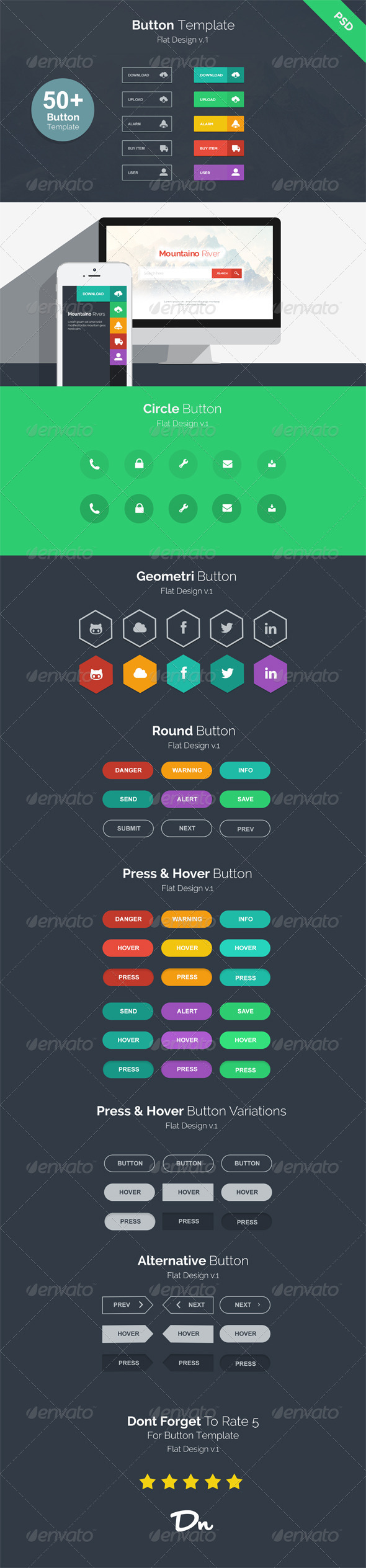 GraphicRiver Button Template v.1 7215382