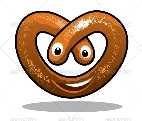 GraphicRiver Happy Curly Pretzel 7225116