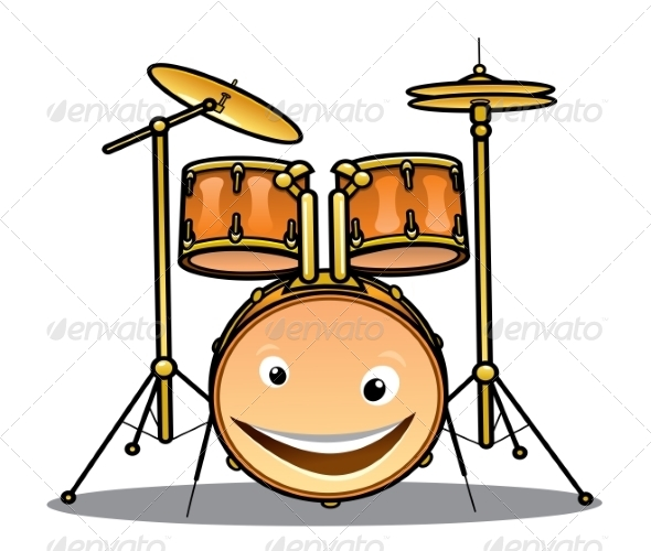 GraphicRiver Set of Drums and Cymbals for a Band 7225131