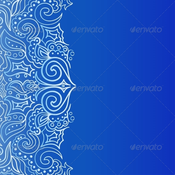 GraphicRiver Background with Lace Ornament 7225136