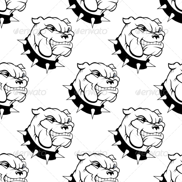 GraphicRiver Seamless Pattern of a Dog with a Spiked Collar 7225140