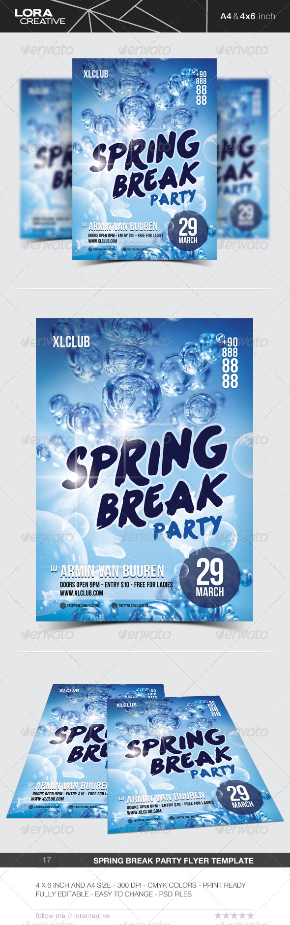 GraphicRiver Spring Break Party Flyer Poster 17 7177856
