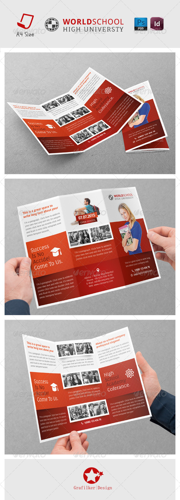 GraphicRiver High School Tri-fold Templates 7225246