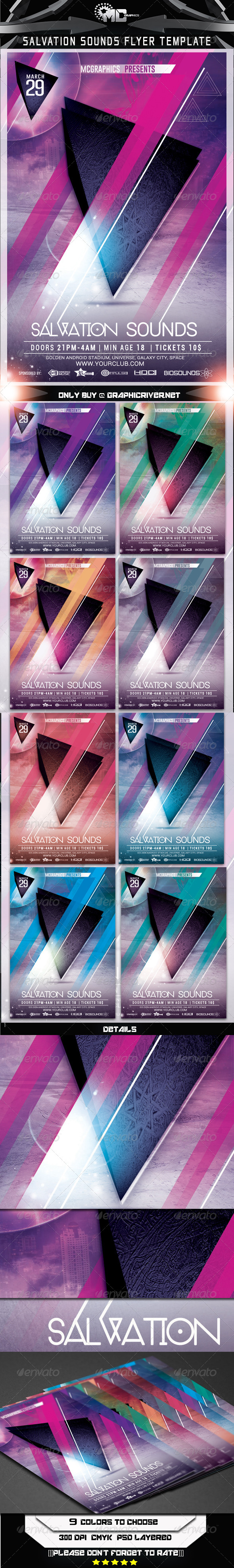 GraphicRiver Salvation Sounds Flyer Template 7225362