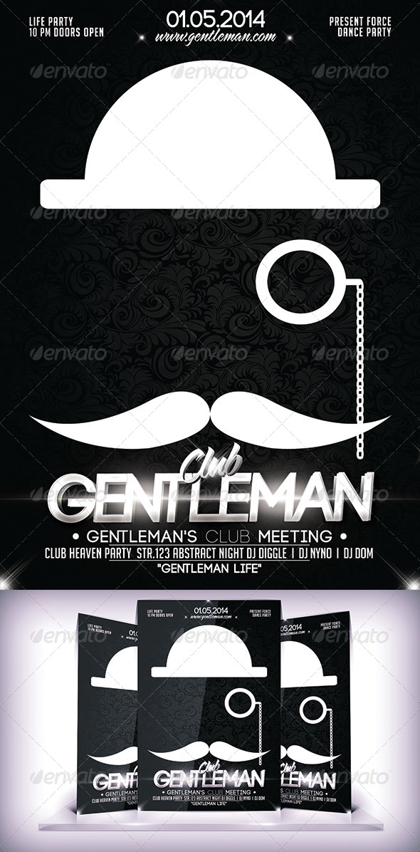 GraphicRiver Gentleman Club Flyer 7178126