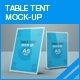 Table Tent Mock-up - GraphicRiver Item for Sale