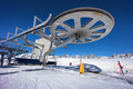 ski lift chair station on slope in mountain - PhotoDune Item for Sale