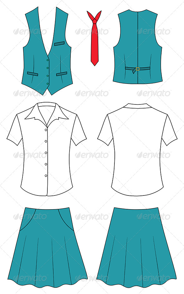 GraphicRiver Woman Cashier or Seller Clothes 7225606