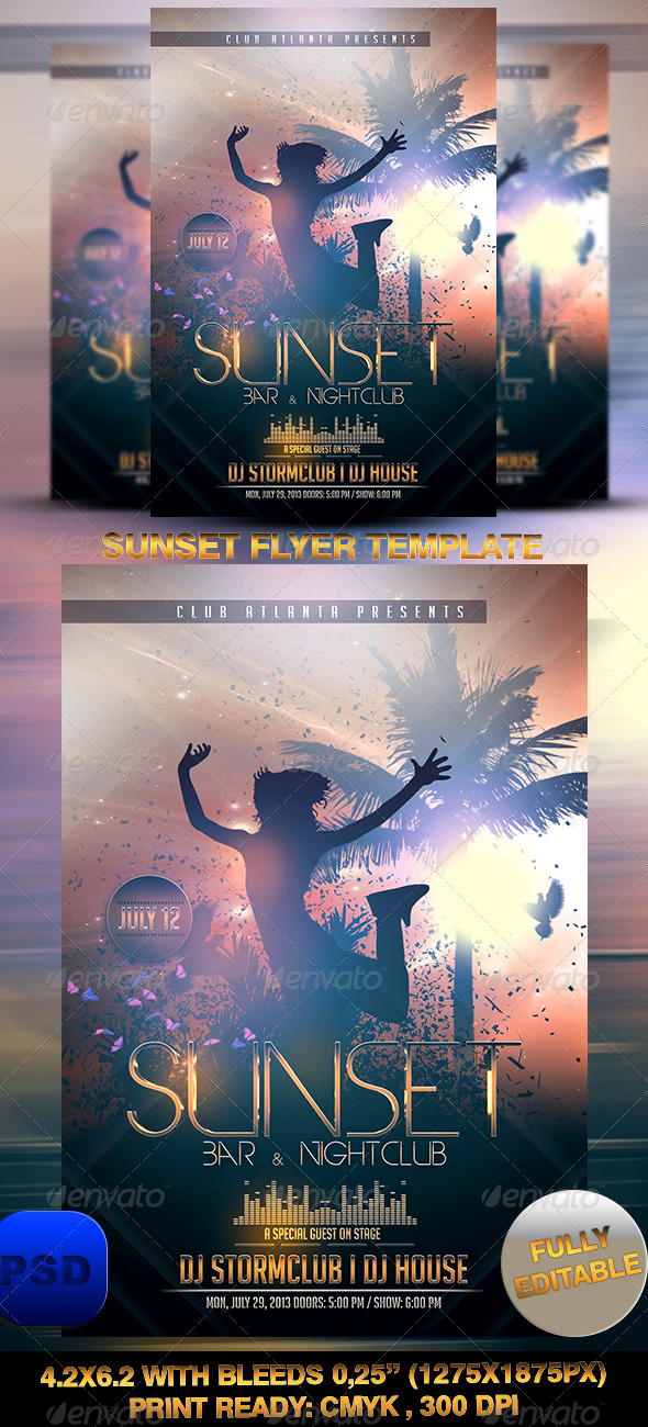 GraphicRiver Sunset Flyer Template 7225643