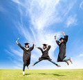 College students celebrate graduation and happy jump - PhotoDune Item for Sale