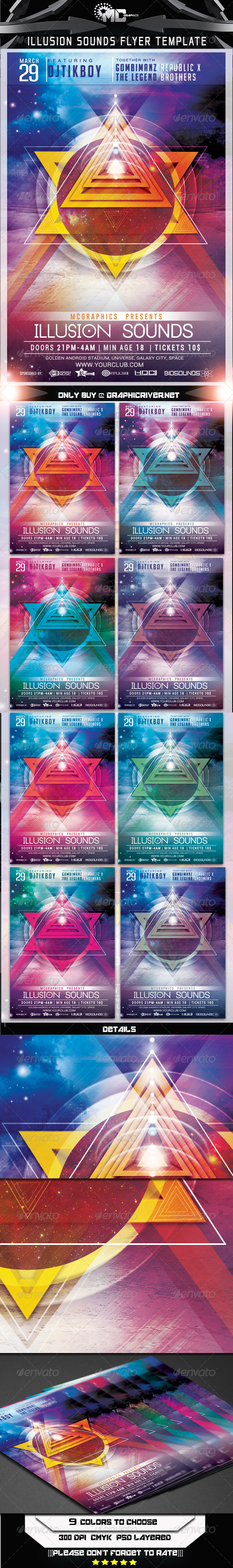 GraphicRiver Illusion Sounds Flyer Template 7225805