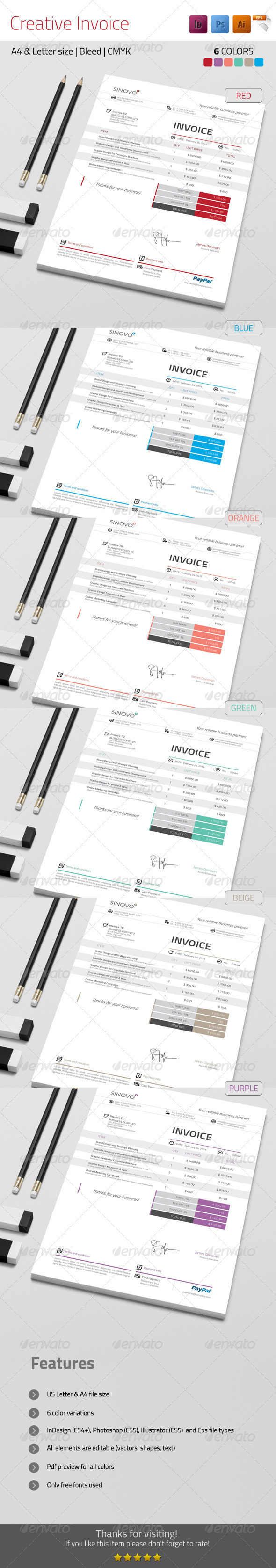GraphicRiver Creative Invoice 7225899
