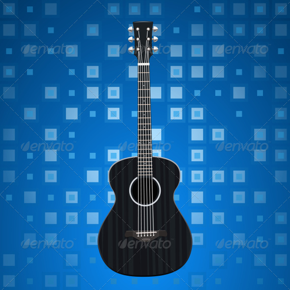 GraphicRiver Music Background with Guitar 7226112