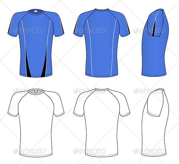 T shirt raglan design template psd for 3 4 sleeve shirt template