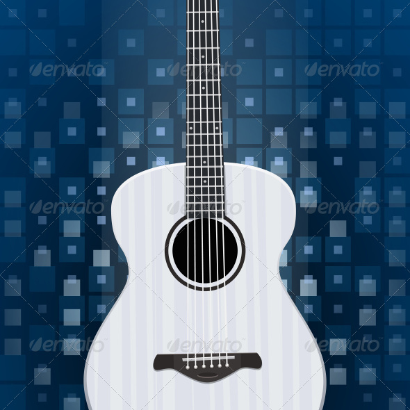 GraphicRiver Music Background with Guitar 7226264