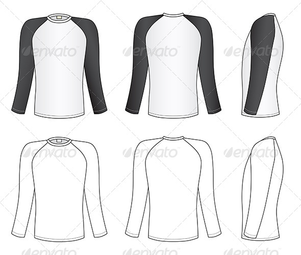 GraphicRiver Raglan Sleeve T-Shirt 7226347