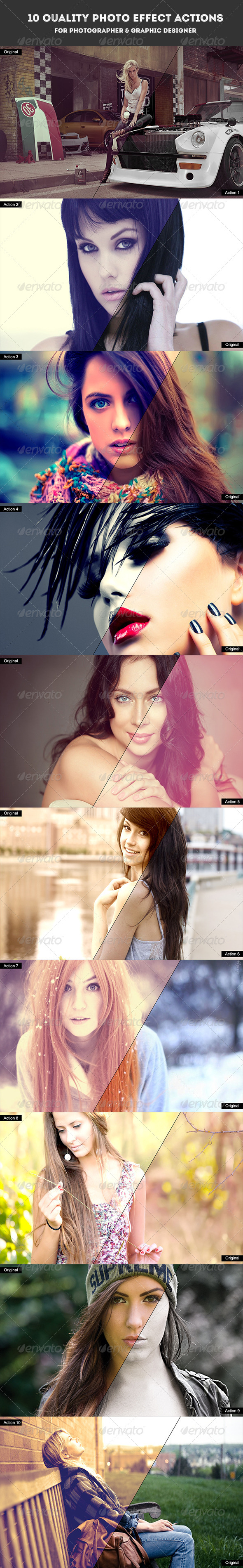 GraphicRiver 10 Quality Photo Effect Actions Photoshop 7226406