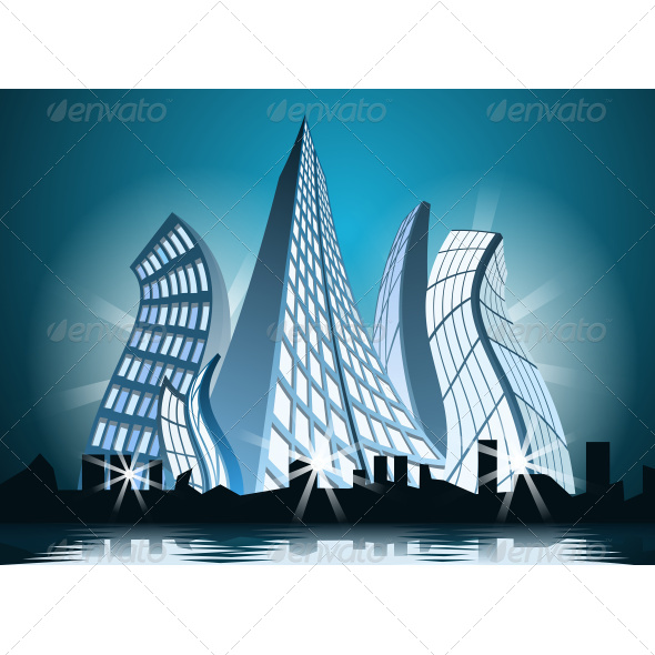 GraphicRiver Abstract City by Night 7226407