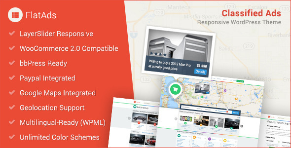 ThemeForest FlatAds Classified AdsWordPress Theme 7157644